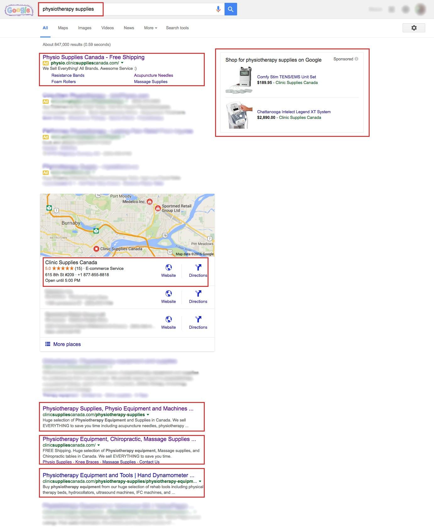 Clinic Supplies Canada Google Adwords